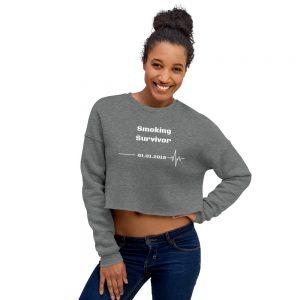 Smoking Survivor – Crop Sweatshirt – Custom Quit Smoking Date