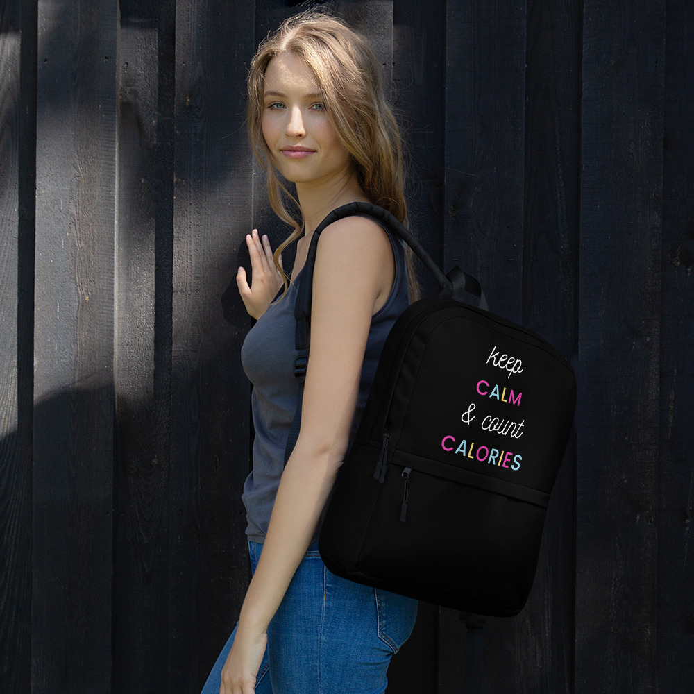 Keep Calm & Count Calories – Backpack