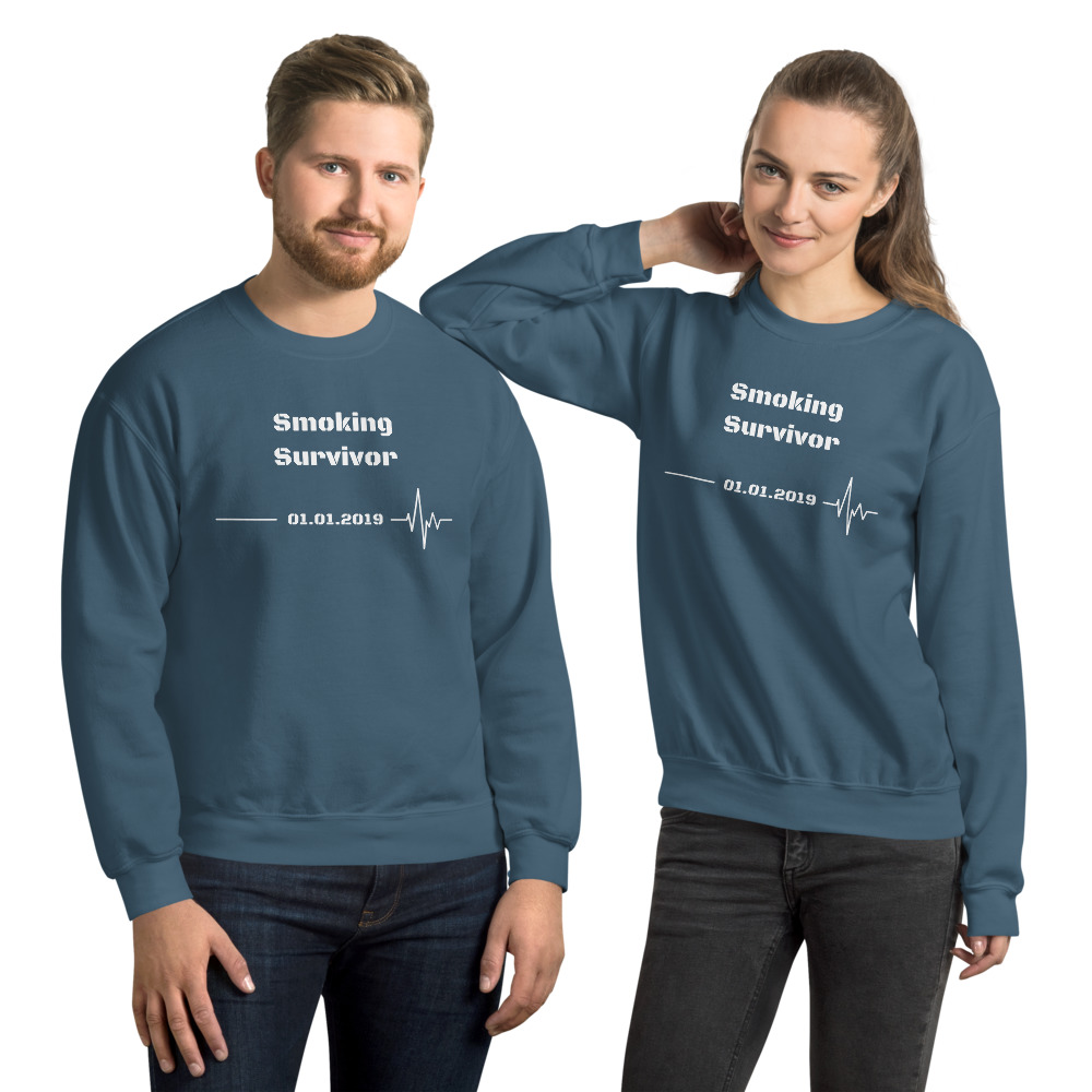 Smoking Survivor – Sweatshirt Unisex – Custom Quit Smoking Date
