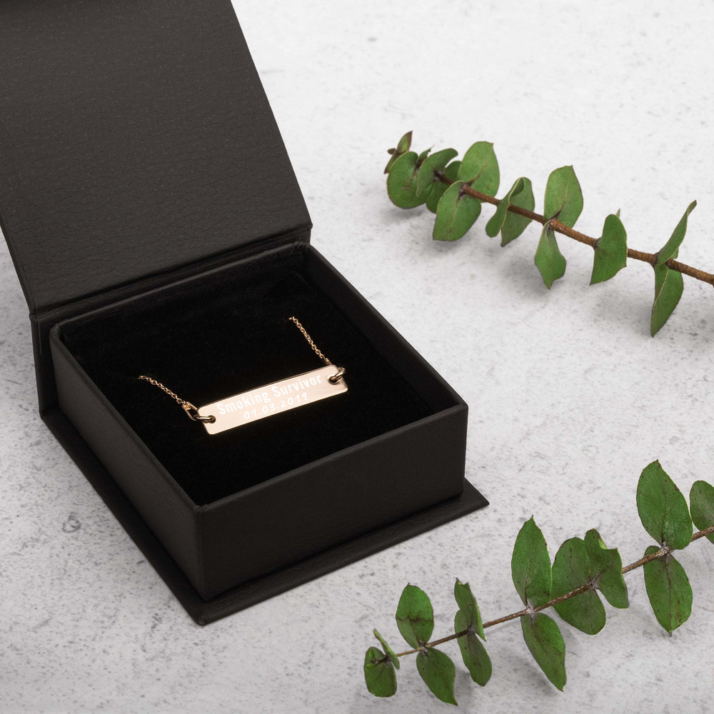 Smoking Survivor – Women Necklace – Custom Quit Smoking Date