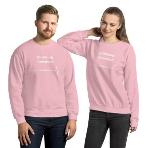 Drinking Survivor – Sweatshirt Unisex – Custom Quit Drinking Date