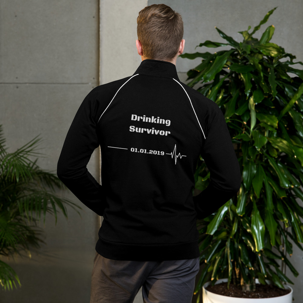 Drinking Survivor – Jacket Unisex – Custom Quit Drinking Date