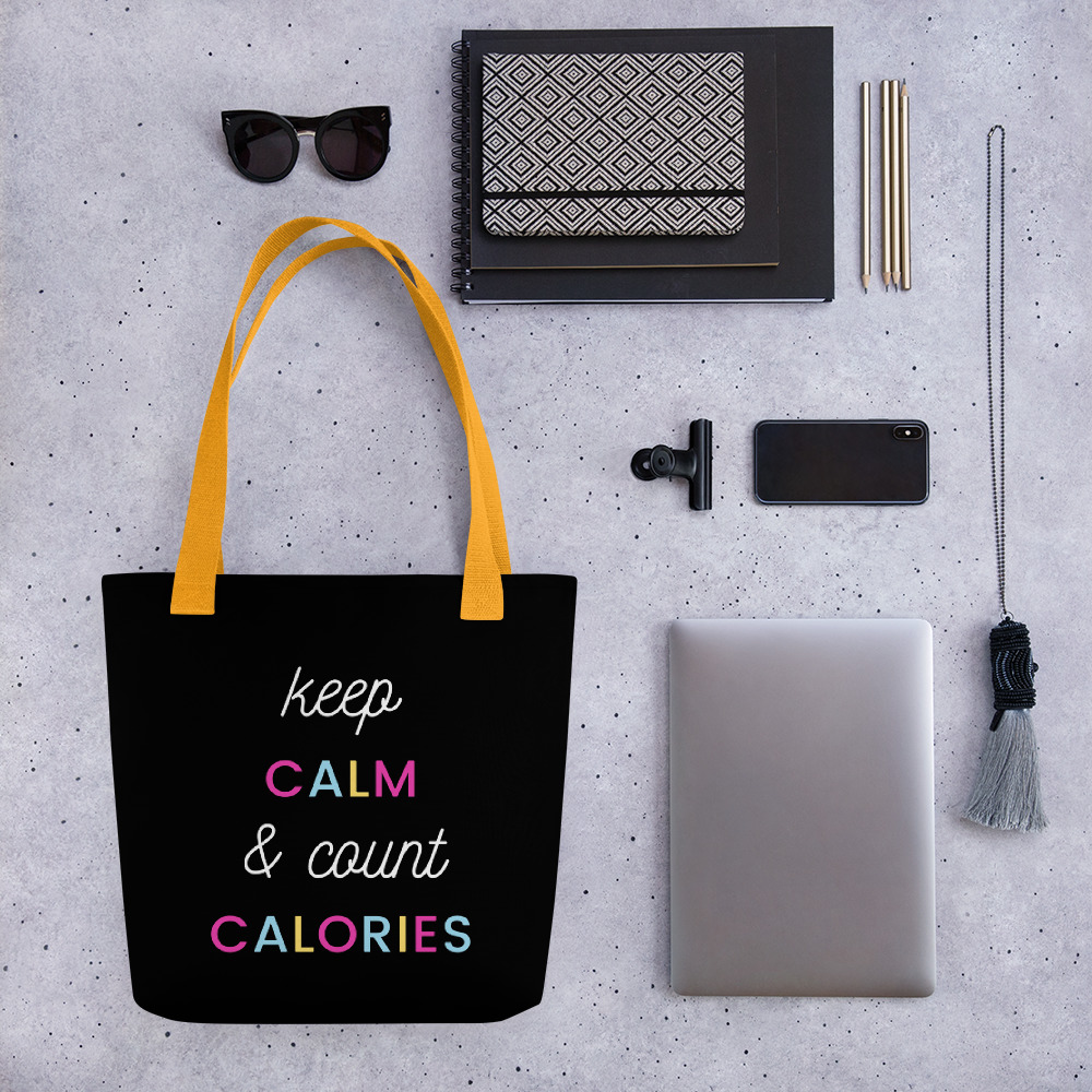 Keep Calm & Count Calories – Tote bag