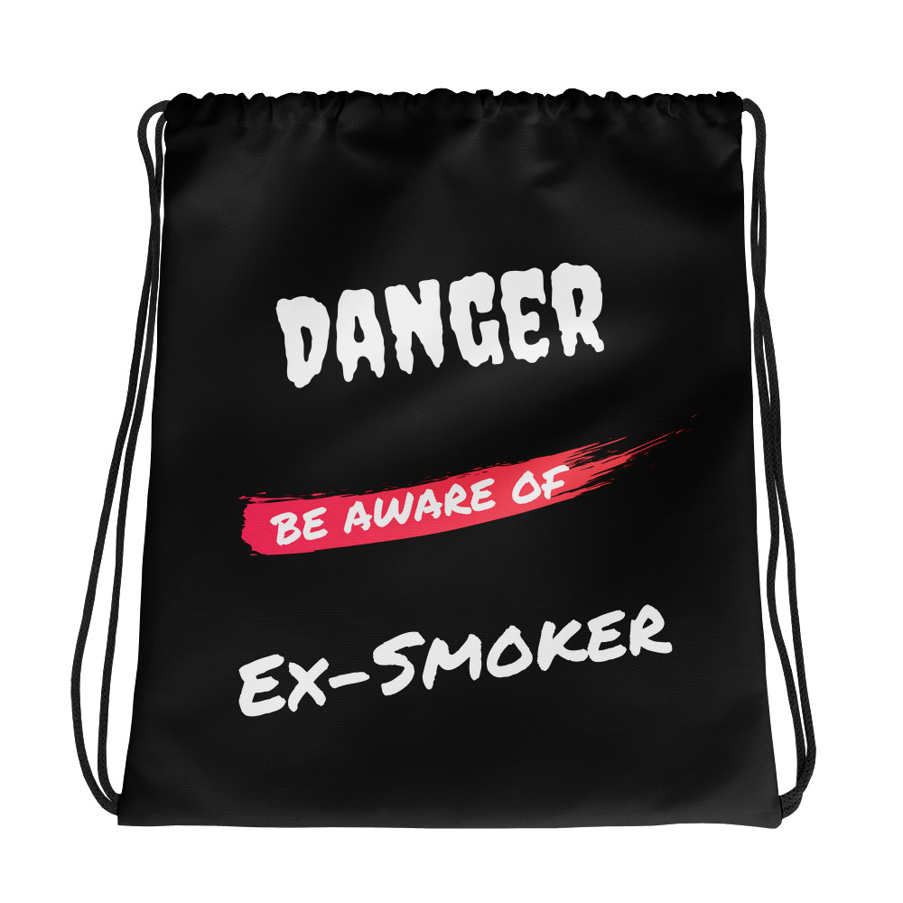 Danger Ex-Smoker 2 – Drawstring bag – Black