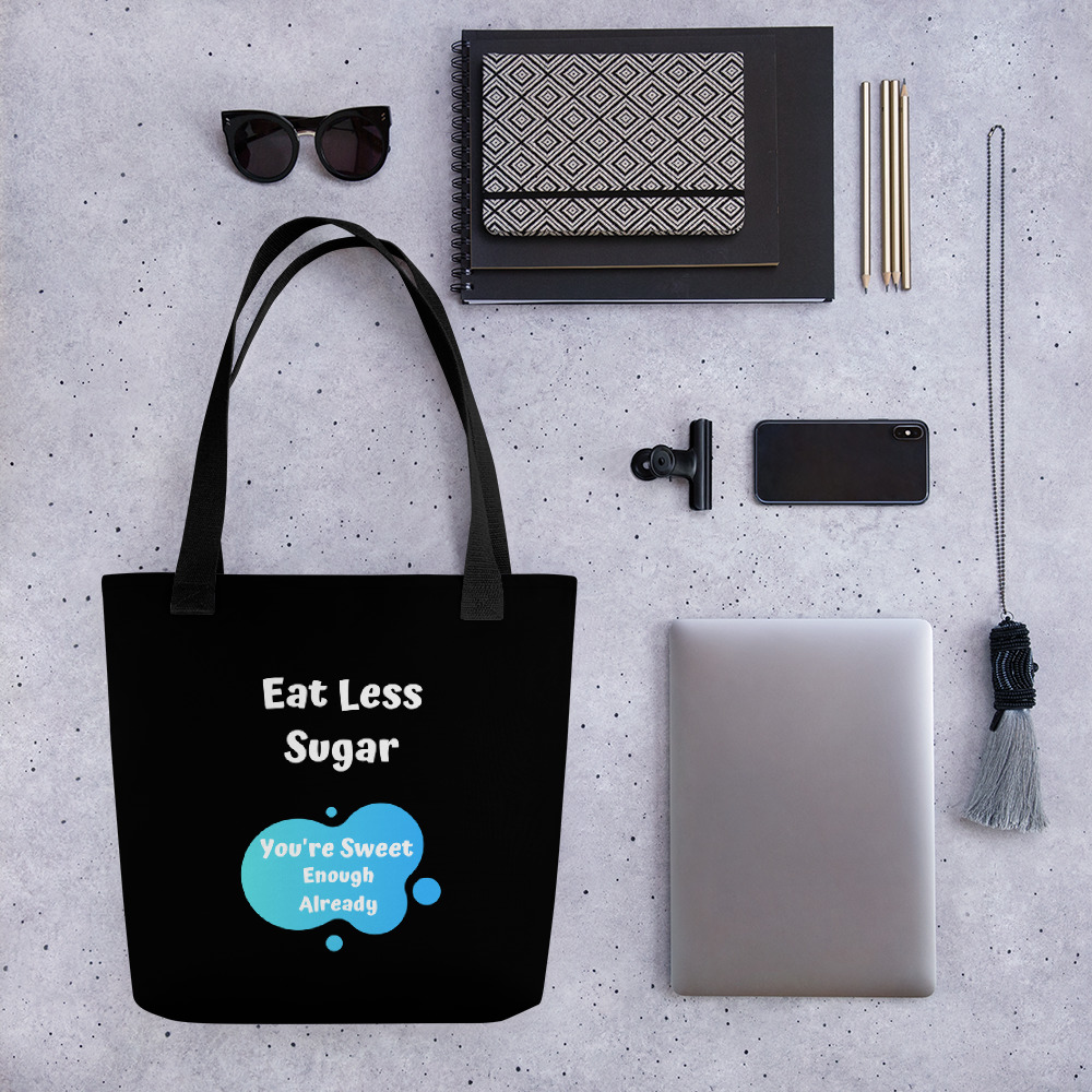 Eat Less Sugar 2 – Tote bag
