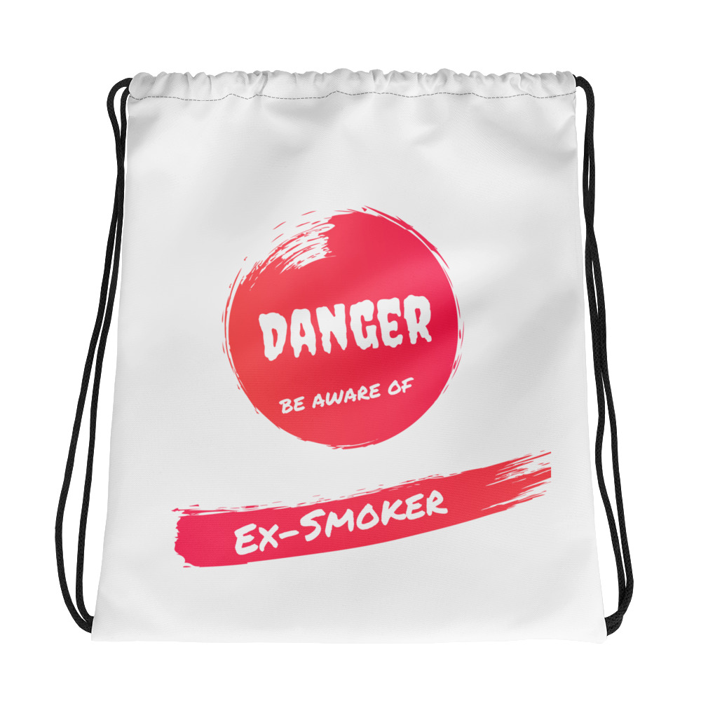 Danger Ex-Smoker – Drawstring bag