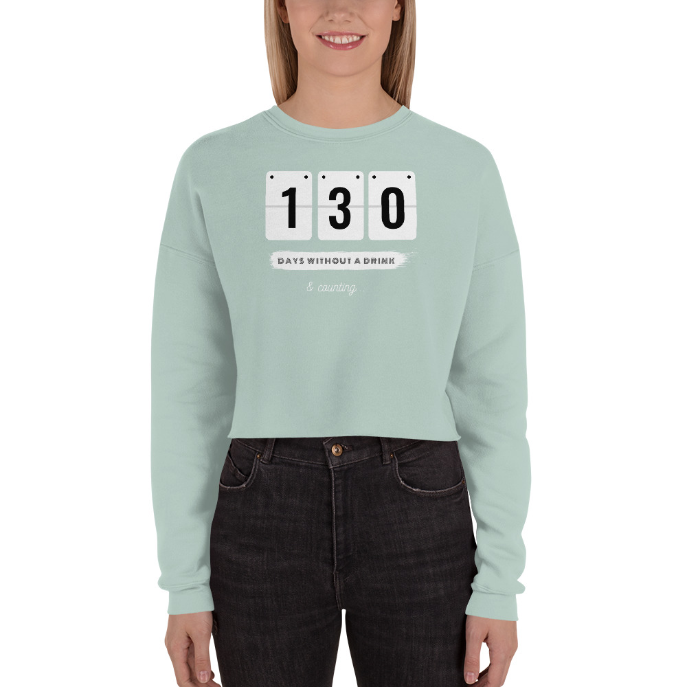 Days without a Drink 2 (USA) – Crop Sweatshirt
