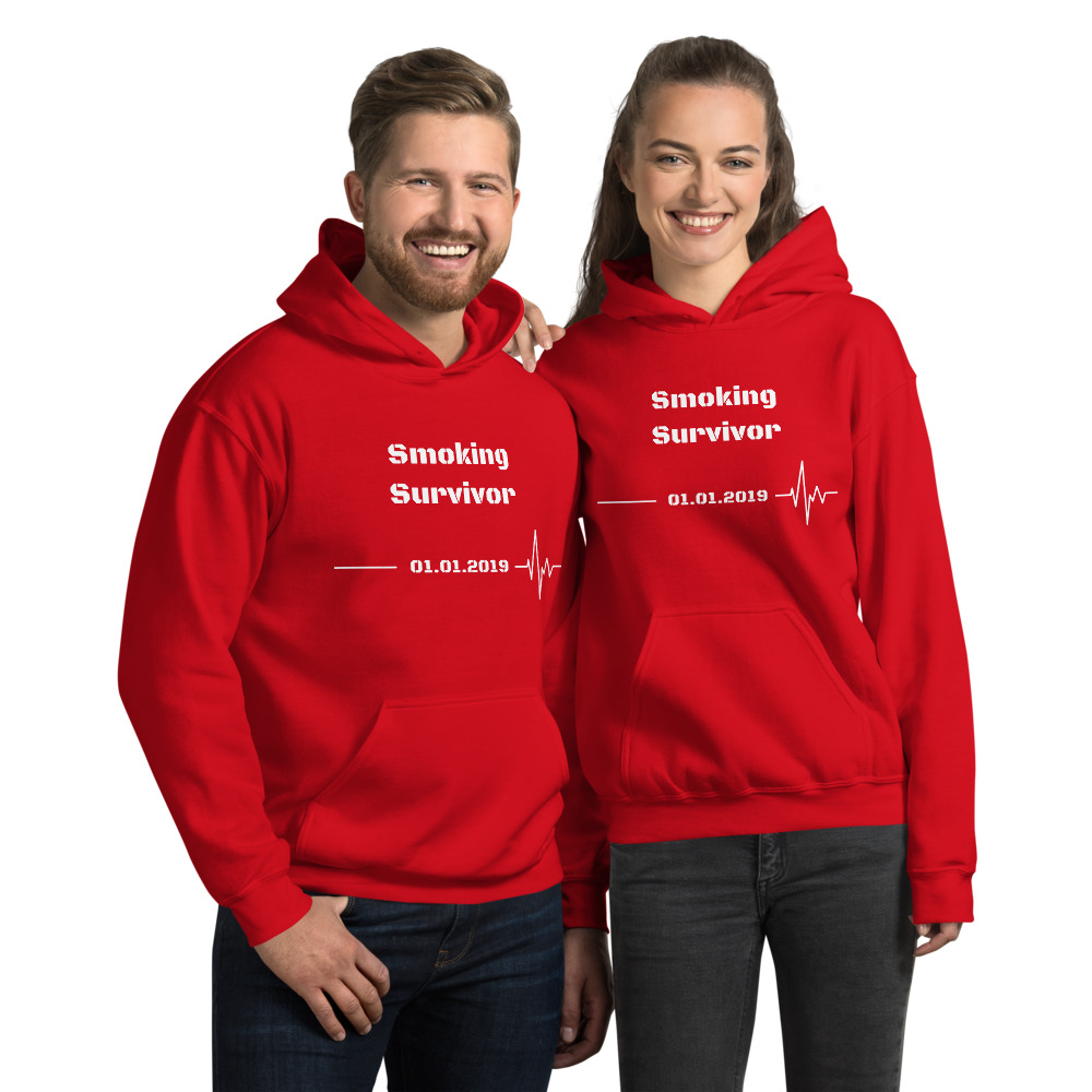 Smoking Survivor – Hoodie Unisex -Custom Quit Smoking Date